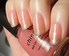 Sliver/pink gradient nail | Pink base is China Glaze Love Le… | Flickr - Photo Sharing!