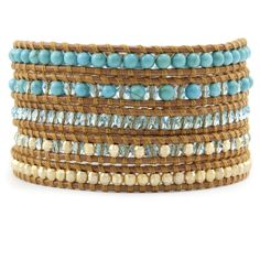 Chan Luu - Turquoise Bead Mix Wrap Bracelet on Henna Leather, $245.00 (http://www.chanluu.com/wrap-bracelets/turquoise-bead-mix-wrap-bracelet-on-henna-leather/)
