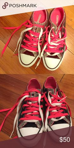 Adorable converse All Stars Low top printed All stars.  Size 6.  I loved them so much that I had to have them, however they are simply too small (I usually take a size 7-8).  Worn once or twice.  Great condition.  Will be sad to see them go. Converse Shoes Sneakers