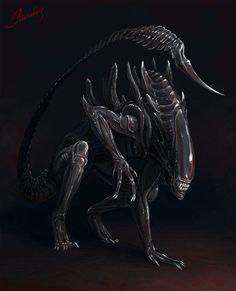 Alien by ~Atenebris on deviantART Alien Vs Predator, Predator Movie, Predator Alien, Predator Helmet, Alien Creatures, Fantasy Creatures, Prehistoric Creatures, Art Alien, Giger Alien