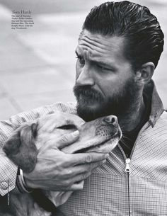 Tom Hardy and his dog......I didn't think Mr. Hardy could get any hotter and then I saw this pic...........