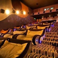 Movie theatre with cuddling chairs