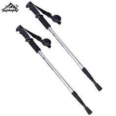 3 Section- Straight Grip Handle- Aluminum Alloy Telescopic, Walking & Hiking Pole