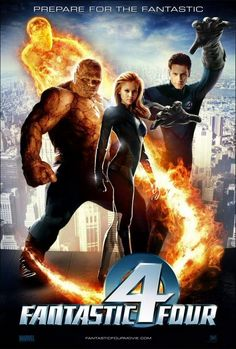 I like the fantastic four logo. We could use this instead of a city backdrop. Get a cutout stand up for the circle with 4 in the middle.
