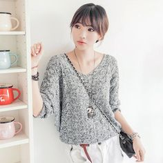 Pulls et Sweats > Pull Triangle gris clair - Mode japonaise casual | Mikatani : the asian way of life