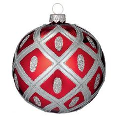 Waterford Ruby Ball Ornament