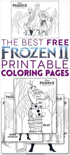 FROZEN 2 COLORING PAGES: From Elsa and Anna to Olaf and Sven, these free printable Frozen 2 sheets include favorite Frozen characters, plus fun new characters to color! Frozen Coloring Sheets, Free Disney Coloring Pages, Frozen Coloring Pages, Cartoon Coloring Pages, Free Printable Coloring Pages, Free Coloring, Coloring Pages For Kids, Coloring Books, Frozen Printable