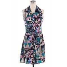 Triangle Print Dress, Now $10!#SpringFashion#Shopping#Sale