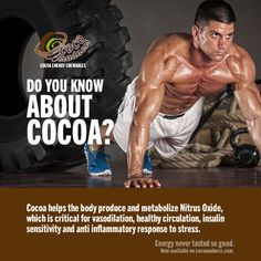 Do you know about cocoa? Among other things, it helps with the body's anti-inflammatory response to stress.  Get the benefits of cocoa in its purest, organic, vegan, chewable form with CoCo Madness from Defense Nutrition! Buy now and get $3 off. Food Technology, Nutritional Supplements, Human Body, Metabolism, Did You Know, Whole Food Recipes, Cocoa, No Response, Nutrition Products