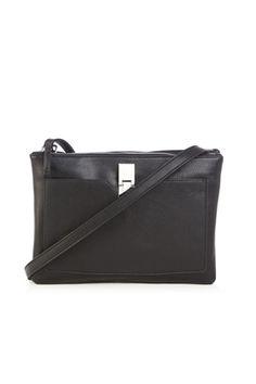 Bags & Purses   Black FRONT POCKET CROSSBODY   Warehouse
