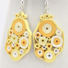 paper quilled earrings..so cool and tons of variations you can do!
