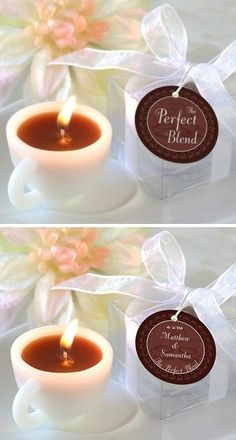 cup wedding favors  | The Perfect Blend Coffee Cup Mini-Candle Favor (20040NA) - Discount ...