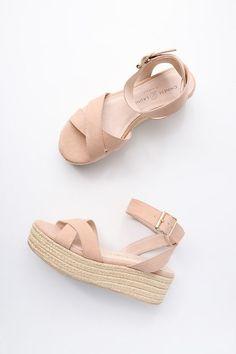 0fa0ddf82ff8e Zala Dark Nude Suede Espadrille Flatform Sandals