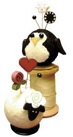 Sherry Sheep & Penny Penguin pincushions from Just Another Button Company