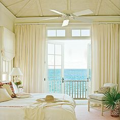 Vaulted Ceiling Bedroom - Our 50 Prettiest Island Rooms - Coastal Living Mobile