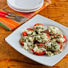 Kalyn's Kitchen®: Summer Tomato Salad with Goat Cheese, Basil Vinaigrette, and Fresh Herbs