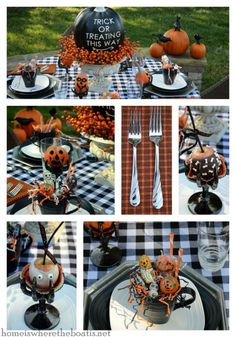 Treats and Treats for your Halloween table! #halloween