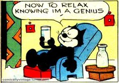 Real Geniuses know that Relaxing is an important part of the process.