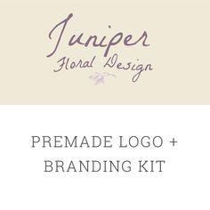 Premade Floral Logo Design, Branding kit, Custom Logo Design, Boutique Logo, Feminine Logo, Business Logo, Business branding, Branding by MandyandCo on Etsy