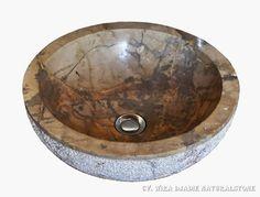 Sink Bowl Outside Hammer Color : Brown Size: Ø 35 cm X H. 15 cm Ø 40 cm X H. 15 cm Ø 45 cm X H. 15 cm