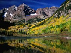 Maroon Bells Scenic Area in White River National Forest, Rocky Mountain National Park