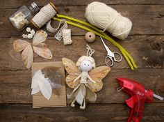 No Sew Fairy Tutorial – Miss Daisy Patterns - Doll Fairy Crafts, Doll Crafts, Christmas Fairy, Christmas Crafts, Crochet Fairy, Felt Fairy, Crafts For Kids, Diy And Crafts, Clothespin Dolls