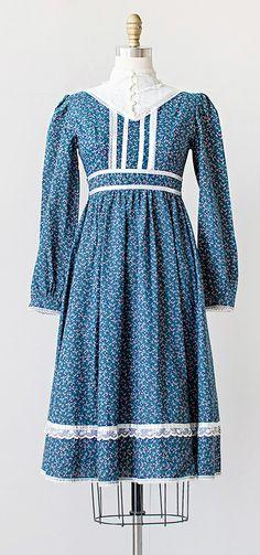 vintage 1970s blue boho Gunne Sax dress | #vintage #1970s #Gunnesax