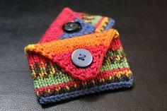 Cardholder free knitting pattern