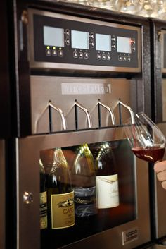 Wine Station in the kitchen. Yes please!!