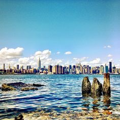 View of New York City from across the river