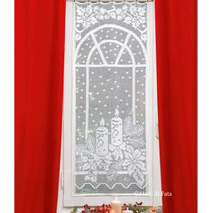 4 balls white Tortiglia cotton number 40 and scheme on squared paper to realize the crochet filet curtain with Christmas subjects. Crochet Carpet, Crochet Home, Free Crochet, Knit Crochet, Crochet Curtains, Crochet Tablecloth, Crochet Doilies, Crotchet Patterns, Stitch Patterns