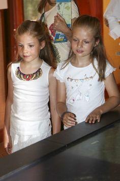 Spanish Princess Leonor (R) and Infanta Sofia visit Tramuntana Mountains on 11.08.2014 in Palma de Mallorca, Spain.