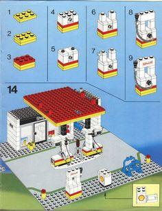 LEGO 6378 Service Station instructions displayed page by page to help you build this amazing LEGO City set Lego Duplo, Lego Moc, Lego Minecraft, Lego City, Lego Modular, Vintage Lego, Lego Design, Lego Autos, Modele Lego