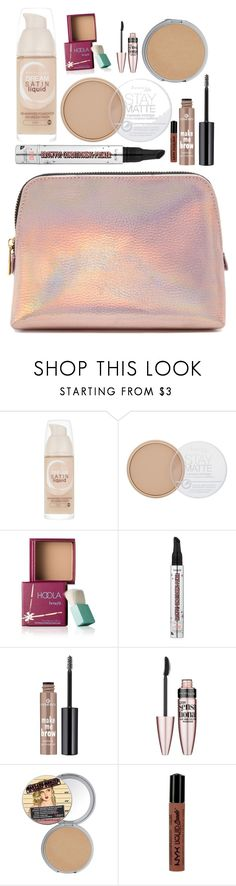 """Makeup 💄"" by lucy-wild ❤ liked on Polyvore featuring beauty, Maybelline, Rimmel, Benefit, Essence, TheBalm, NYX and Forever 21"