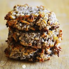 Grain free Banana Coconut Cookies -also dairy-free, egg-free, sugar-free, but full of deliciousness! Your kids are going to love this easy, healthy snack! Paleo Cookies, Coconut Cookies, Gluten Free Cookies, Gluten Free Baking, Gluten Free Desserts, Healthy Desserts, Paleo Dessert, Healthy Sweets, Dessert Recipes