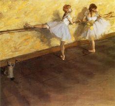 Dancers Practicing at the Barre, 1877  Edgar Degas