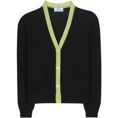 Prada Cashmere Cardigan (€925) ❤ liked on Polyvore featuring tops, cardigans, black, cardigan top, prada, prada cardigan, cashmere cardigans and cashmere tops