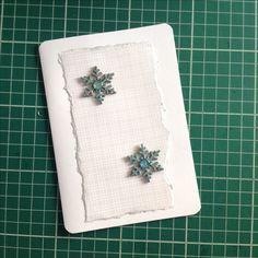 Cartão de natal em scrapbooking da linha prata.