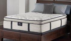 "Serta Perfect Sleeper with ""liquid gel-enhanced memory foam and Cool Balance fabric"""