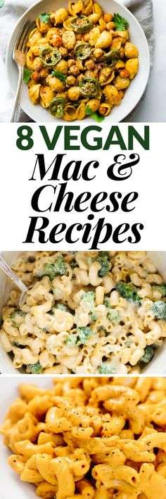 You don't have to give up creamy, dreamy mac and cheese when you eat vegan! These 8 mouthwatering vegan mac and cheese recipes are sure to be a hit with everyone. Make them for weeknight meals or serve them to a crowd! @SweetEarthFoods #sponsor