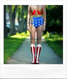 Wonder Woman costume.  I need this to run in for the Bolder Boulder next year!
