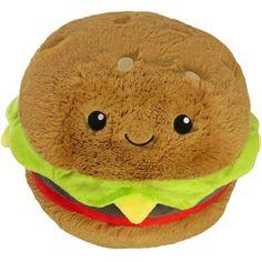 Diy Food Pillows Kawaii Plush New Ideas Food Pillows, Cute Pillows, Food Plushies, Mini Hamburgers, Big Animals, Cute Stuffed Animals, Unusual Gifts, Cuddling, Cool Stuff