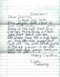 Dear Santa DonT Overwork Yourself  Letters To Santa