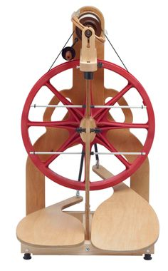 Lady Bug Spinning Wheel by Schacht Spindle Company by tangledlair, $575.00