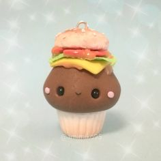 #kawaii #charms #polymer #clay #burger #cupcake #charm