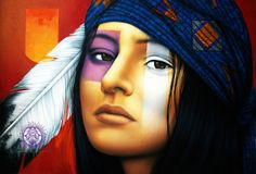 native  American art by victor gomez | Victor Crisostomo Gomez ~ Soul of the Forest | Tutt'Art@ | Pittura ...