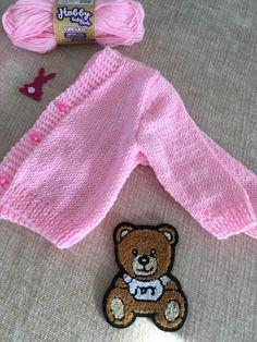 Baby Cardigan, Knit Cardigan, Tricot Baby, Knit Baby Sweaters, Baby Kit, Crochet Bear, Baby Girl Fashion, Baby Knitting Patterns, Kids