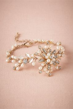 Pretty and delicate!!! Fleur-Pearl Bracelet from BHLDN