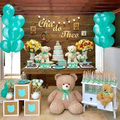 Teddy Bears Baby Shower theme Best Of Pin by Diane Starks On Baby Shower Yasmeen. - Teddy Bears Baby Shower theme Best Of Pin by Diane Starks On Baby Shower Yasmeen In 2019 - Decoracion Baby Shower Niña, Idee Baby Shower, Boy Baby Shower Themes, Baby Shower Balloons, Baby Shower Parties, Baby Boy Shower, Shower Party, Deco Buffet, Teddy Bear Baby Shower