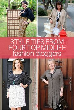 Midlife Styling Advice from 4 Fashion Bloggers - Get great fashion advice and up your fashion game! Here's what I learned from four of my favorite Fashion Bloggers.